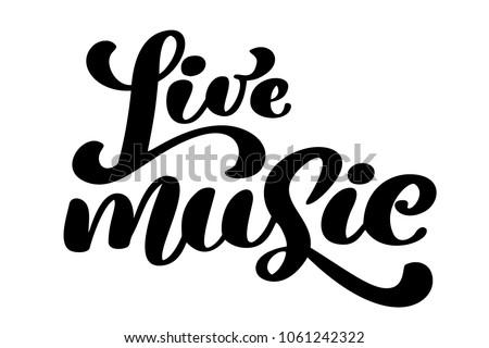 Live Music Sign Icon Karaoke Symbol Stock Vector Royalty Free