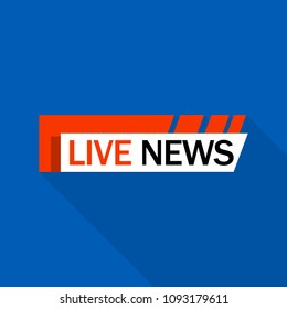 Live news logo. Flat illustration of live news vector logo for web design