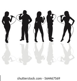 Live singers Silhouette