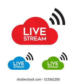 Live stream icon, logo