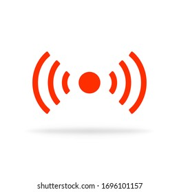 Live stream icon. Online broadcast symbol. Television vector isolated sign. Media live button. Streaming logo. Vector EPS 10.