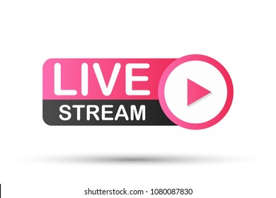 Live Stream Icon. Vector stock illustration