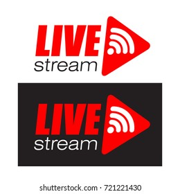 Live stream logo design. Vector illustration.