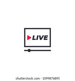 Live stream player icon