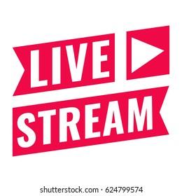 Live stream. Vector flat illustration on white background.