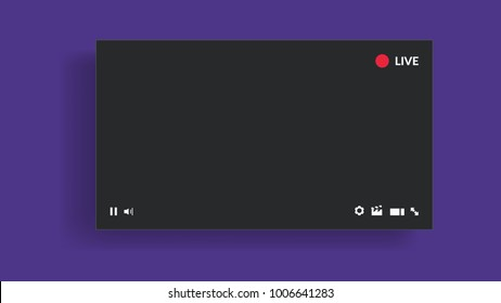 Live stream video player