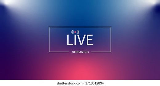 Live streaming background.loading,player, broadcast, website, online radio
