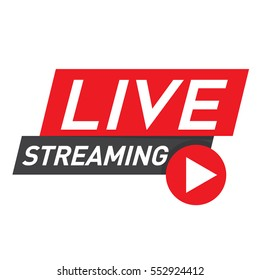Live stream icon imagens fotos e vetores stock shutterstock live streaming icon badge emblem for broadcasting or online tv stream vector in stopboris Images