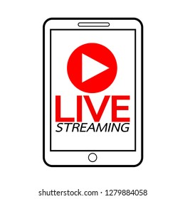 Live Streaming online sign vector design