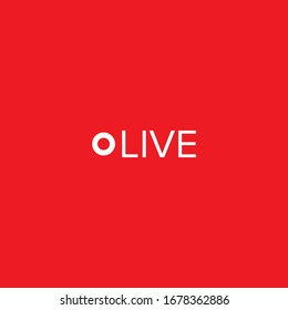 Live vector illustration symbol for video and online streaming