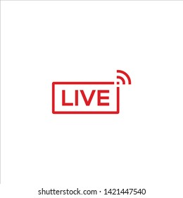 Live video, streaming icon vector