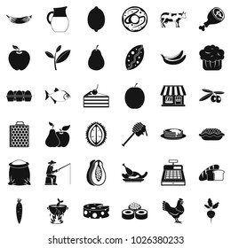 Livelihood icons set. Simple set of 36 livelihood vector icons for web isolated on white background