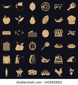 Livelihood icons set. Simple set of 36 livelihood vector icons for web for any design