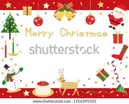 Christmas Card Message.Lively Christmas Card There Space Write Message Stock Vector