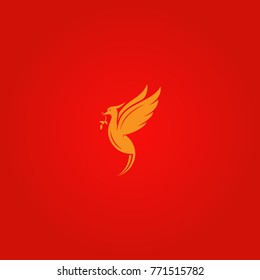 Liver bird minimalistic logotype