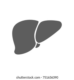 Liver icon in trendy flat style isolated on white background. Symbol for your web site design, logo, app, UI. Vector illustration, EPS