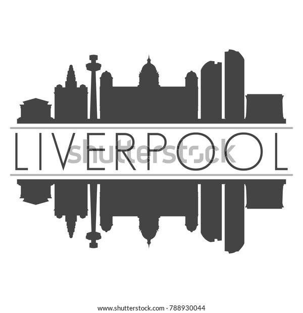Liverpool England Uk Skyline Vector Art Stock Vector Royalty Free 788930044
