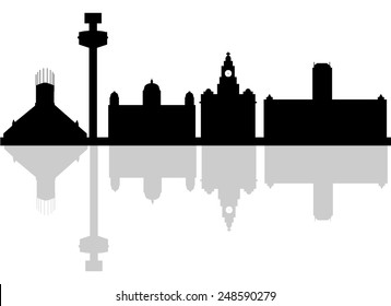 Liverpool Skyline with Typography Design