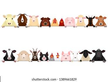 livestock upper body border set