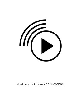 livestream icon, Vector illustration