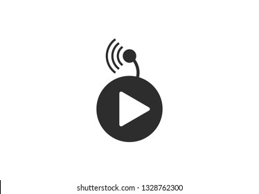 livestream icon vector illustration on white background