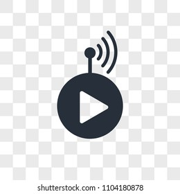 livestream vector icon isolated on transparent background, livestream logo concept