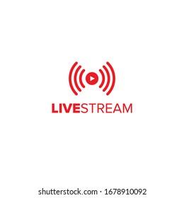 Livestream vector illustration symbol for video and online