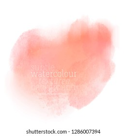 living coral water color splash. vector eps 8