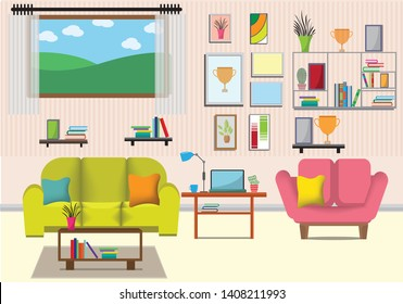 Cartoon Living Room Images Stock Photos Vectors Shutterstock