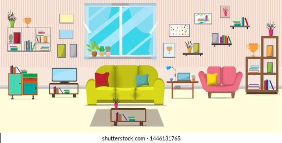 Incredible Sofa Cartoon Images Stock Photos Vectors Shutterstock Home Remodeling Inspirations Cosmcuboardxyz