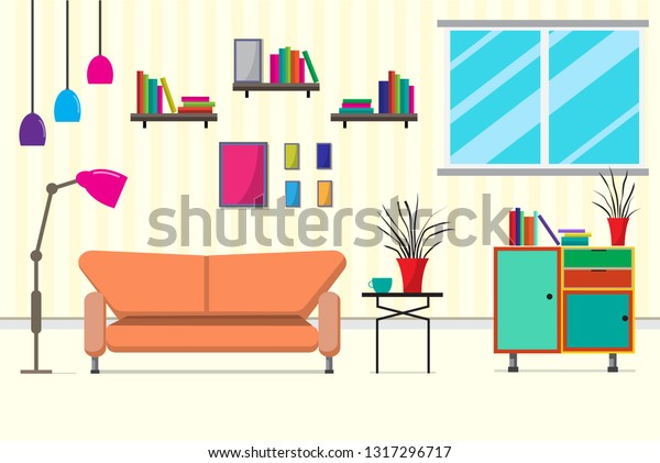Living Room Furniturethere Many Things Such Stock Vector Royalty