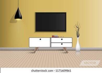 Living room interior design and decorative., Vector, Illustration