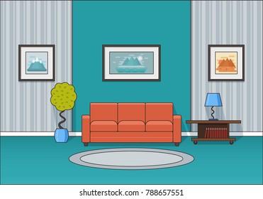 Cartoon Living Room Images Stock Photos Vectors