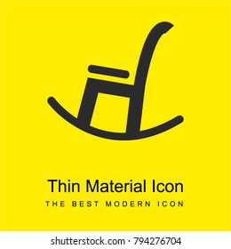 Livingroom rocking chair bright yellow material minimal icon or logo design
