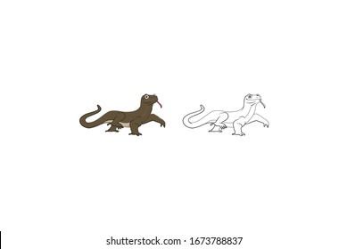 Lizard Animal Cartoon Vector Illustration Bundle