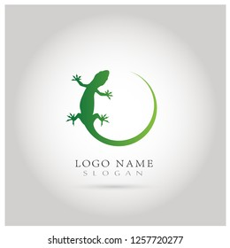 Lizard & Gecko Logo. Icon & Symbol Vector template.