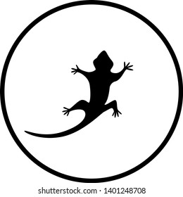 lizard or gecko silhuette symbol