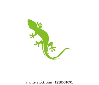Lizard green logo vector