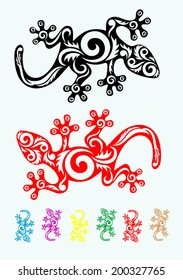 Lizard home. Lizard tribal tattoo design. Good for your tattoo design,easy to use, vector file.