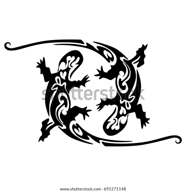 f910a302a Lizard icon isolated on white background. Lizard template for tattoo  design, print.