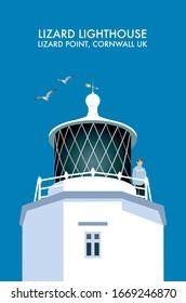 The Lizard Lighthouse at Lizard Point, Cornwall UK