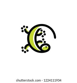 lizard logo template download graphic abstrack