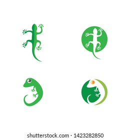 Lizard logo template vector  icon illustration