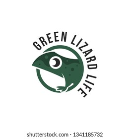 Lizard logo vector. Reptile logo template. Wild animal logo vector