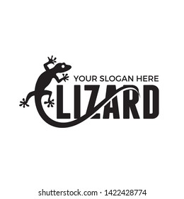 Lizard logo vector template illustration
