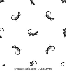 Lizard pattern repeat seamless in black color for any design. Vector geometric illustration