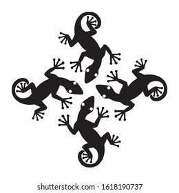 lizard silhouette vector illustration on white background