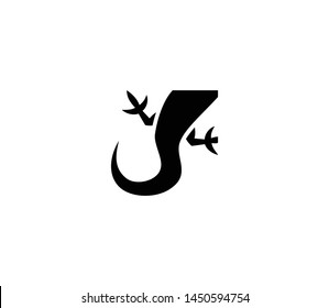 Lizard tail vector isolated flat illustration. Lizard tail icon