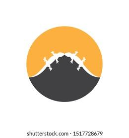 lizard vector icon logo and symbol template