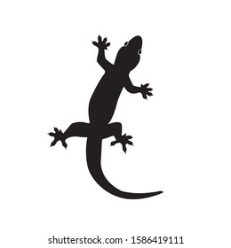 Lizard vector icon logo. Lizard symbols isolated on white background